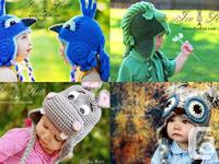 1500+ images of my crochet animal hats, patterns and