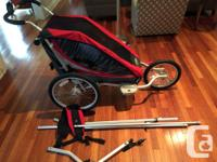 Excellent condition Chariot Cougar 1 with attachments