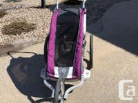 Chariot Cougar 1 (for one child) in purple, purchased