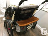 Chariot CX2 2 seater jogging stroller. Includes jogging