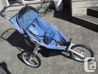 Jogging stroller made in Canada by Chariot, sold by