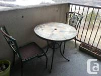 Charming outdoor bistro set for sale.  Needs some TLC