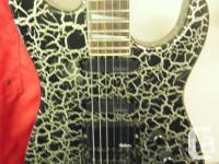 Charvel 475 Platinum Crackle Limited Edition Guitar.