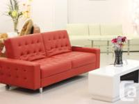 sofabed- PU With PVC Available in 3 Colors: White;