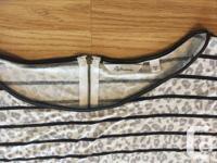 cheetah print & stripe shirt Ladies 1X 3/4 length