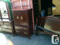 Dresser with mirror Highboy Dresser/Armoire