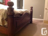 Beautiful California king bed with mattress and box