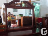 Dresser w/ mirror: 18 inches wide X 62 inches long X 33