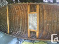 "Original 16' yellow cedar ""Chestnut"" canoe. Needs"
