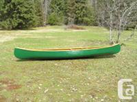"14"" Chestnut wood canvas canoe, rare playmate model,"