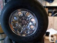 """Chev / GMC Truck Rims and Tires 17"""" -- should fit 1999"""