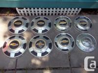 "10"" and 12"" rare Chev. Hubcaps as shown in photos."