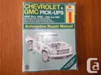 Chevrolet and GMC Pick-ups Haynes Repair service