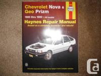 Chevrolet Nova and Geo Prizm Haynes Repair service