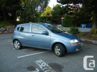 Chevy Aveo Lt 2007 $5900 obo, 120,000 km, new tires