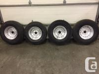 "4 Chevy GMC Rally Wheels 5 on 5 bolt 15"" wheels tires"