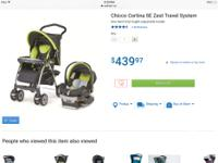 Chicco Stroller and infant car seat and base for sale.