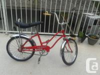 We have a wonderful banana seat bike by a business