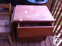 Desk and chair- hand made-very sturdy. Size---26""