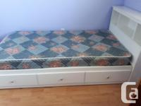 Overall good condition. Three drawers. Mattress is