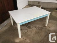 child's wooden arts & crafts table by P.J. Kids,