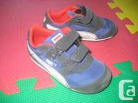 Toddler Children Navy Blue PUMA Steeple Velcro Joggers