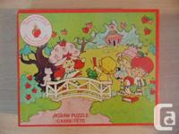 Child Jigsaw Puzzle Vintage Strawberry Shortcake Red 60