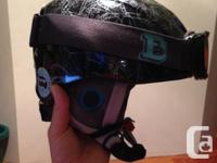 I have 2 kids ski safety helmets and eye protections in