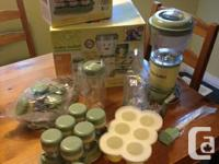 EUC baby bullet WITH extra meals storage set,