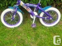 "1) Huffy Cream Soda, 16"" wheels, 40$ 2)Huffy Princess,"