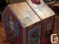 Reduced to $60 - Adorable two piece Fabric cottage,