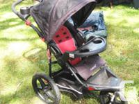 Childrens 3 wheeled baby buggie as pictured in good