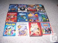 I am selling a variety of children's animated movies