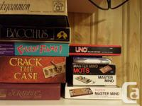 Children to Adult board and card games for sale.