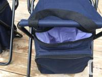 Can set up as a chair or stool - Has insulated bag for