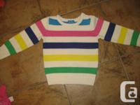 Perfect for spring or fall/winter.   Cute multicolor