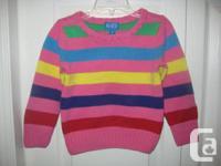 Children's Place multicolored pullover sweater - 3T   -