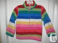 Children's Place Multicolored Striped Fleece Jacket -