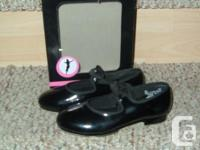 Children's Tap Dance Shoes. Black in color and size 12.