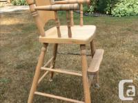 70 year old solid maple child's chair. Use as a chair