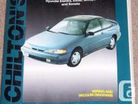 Chilton Hyundai Elantra/Excel/Scoupe/ Sonata 1986-1993