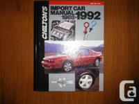 """Chilton's 1988-1992 Import Vehicle Maintenance and"