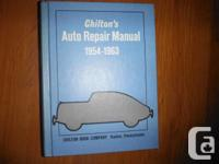 Chilton's 1955 - 1963  Auto Repair Manual  Part number
