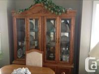 China cabinet for sale, excellent condition  Call  or