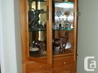 "CABINET WITH GLASS MIRROR, APPROX SIZE 44""X 31.5"""