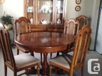 China cabinet - $150 ntative offer on the table/chairs