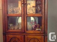 Gorgeous, strong timber China Cupboard for sale. Its