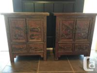 Lovely littles end tables. Intricately carved and