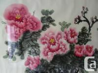 Large Chinese style original water color painting of a
