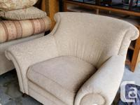 High end Chinz and Co. gold couch and matching chair